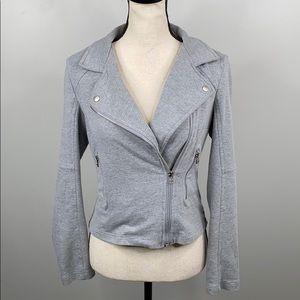 Kut From The Kloth grey knit moto jacket - S